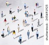 diverse diversity ethnic...   Shutterstock . vector #245691925