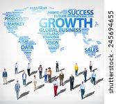 global business success growth... | Shutterstock . vector #245694655