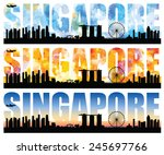silhouettes of singapore most...   Shutterstock .eps vector #245697766