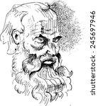 ancient greek philosopher....   Shutterstock .eps vector #245697946