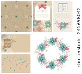 floral cards collection for... | Shutterstock .eps vector #245698042