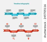 timeline infographics  colorful ... | Shutterstock .eps vector #245705116