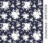 seamless white floral pattern... | Shutterstock .eps vector #245715535