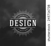 retro vintage insignia ... | Shutterstock .eps vector #245716738