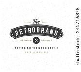 retro vintage insignia ...   Shutterstock .eps vector #245716828