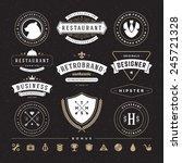 retro vintage insignias or...   Shutterstock .eps vector #245721328