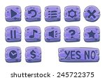set of stone square buttons ...