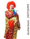 Portrait Of A Smiling Clown...