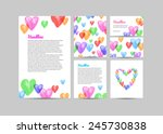 business card. watercolor...   Shutterstock .eps vector #245730838