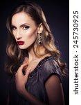 brunette beautiful luxury woman ...   Shutterstock . vector #245730925