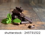 stack of chocolate slices with... | Shutterstock . vector #245731522