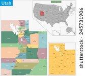 map of utah state designed in... | Shutterstock . vector #245731906