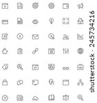 vector seo icon set | Shutterstock .eps vector #245734216