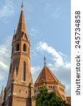 mathias church in budapest... | Shutterstock . vector #245734858