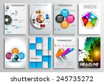 set of flyer design  web... | Shutterstock .eps vector #245735272