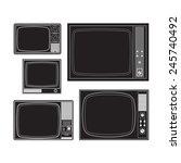 set of old tvs | Shutterstock .eps vector #245740492