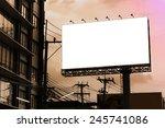 blank billboard at twilight... | Shutterstock . vector #245741086