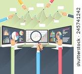 price movement. stock exchange... | Shutterstock .eps vector #245741242