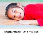 head shot of beautiful asian... | Shutterstock . vector #245741455