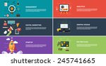 management digital marketing... | Shutterstock .eps vector #245741665