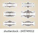 calligraphic headline frame... | Shutterstock .eps vector #245749012
