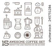 set of vector coffee elements... | Shutterstock .eps vector #245751286