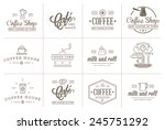 set of vector coffee elements...