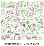 .various kinds of tea ... | Shutterstock .eps vector #245751646