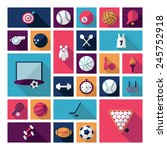 flat concept  design with... | Shutterstock .eps vector #245752918