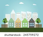 modern green city concept | Shutterstock .eps vector #245759272
