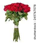 Stock photo colorful flower bouquet from red roses isolated on white background closeup 245767078