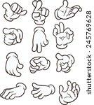 cartoon hands making different... | Shutterstock .eps vector #245769628