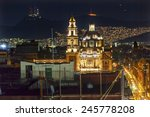 plaza de santa domingo churches ... | Shutterstock . vector #245778208