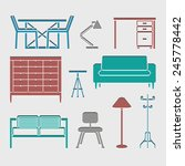 furniture icons set great for... | Shutterstock .eps vector #245778442