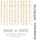 save the date invitation with... | Shutterstock .eps vector #245781742