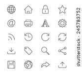 web thin icons | Shutterstock .eps vector #245783752