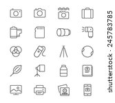photography thin icons | Shutterstock .eps vector #245783785