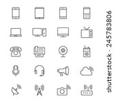 communication device thin icons | Shutterstock .eps vector #245783806