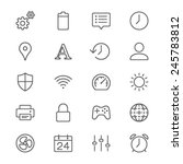 setting thin icons | Shutterstock .eps vector #245783812