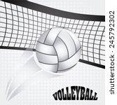 Volleyball Ball Design  Vector...
