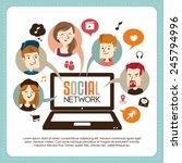 social network | Shutterstock .eps vector #245794996