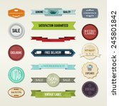 vintage elements set | Shutterstock .eps vector #245801842