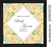 wedding invitation cards with...   Shutterstock .eps vector #245835232