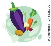 vector collection of vegetables | Shutterstock .eps vector #245836702