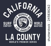 surf california typography  t... | Shutterstock .eps vector #245838262