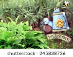 Decorative Garden With Welcome...