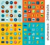 football  soccer infographic | Shutterstock .eps vector #245861656