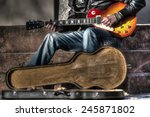 Guitar Player With An Open...