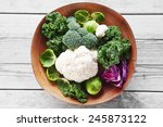 close up healthy fresh salad... | Shutterstock . vector #245873122