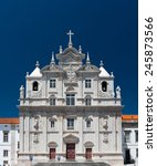 the new cathedral of coimbra ... | Shutterstock . vector #245873566